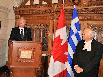 Ο Υπουργός κ. Δημήτρης Αβραμόπουλος με τον Πρόεδρο της Γερουσίας κ.Noel Kinsella