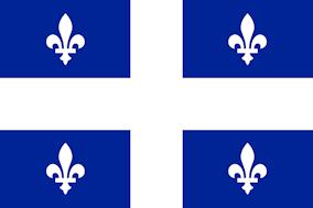 Η σημαία του Κεμπέκ.