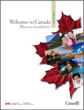Το εξώφυλλο του ανανεωμένου οδηγού Welcome to Canada.