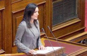 Η Υπουργός Τουρισμού της Ελλάδας, Όλγα Κεφαλογιάννη.