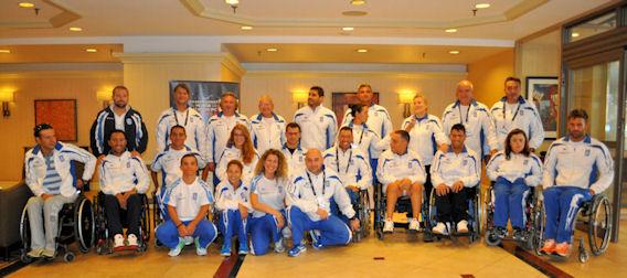 Η Ελληνική Εθνική Ομάδα Κολύμβησης Αθλητών με Αναπηρία. Photo: ©3013-Paris Petrou/Me Greek.