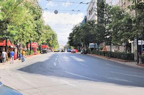 Η οδός Πανεπιστημίου στην Αθήνα. Photo: © 2013 Paris Petrou/Me Greek.