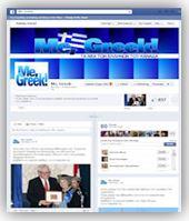 Η σελίδα του Me Greek στο Facebook.