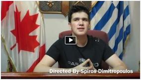 Ο μαθητής του σχολείου Πλάτων-Όμηρος, Σπύρος Δημητρόπουλος εκπροσωπεί τον Καναδά στη Βουλή των Εφήβων.